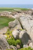 高尔夫球海边 免版税库存照片