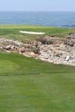 高尔夫球海边 库存照片