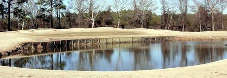 高尔夫球漏洞冬天 免版税库存照片