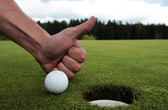 高尔夫球漏洞 库存图片