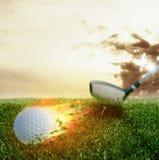 高尔夫球火球 库存图片
