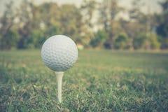 高尔夫球照片葡萄酒样式 免版税库存照片