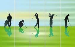 高尔夫球球击的例证 免版税库存照片