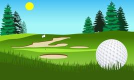 高尔夫球球击 皇族释放例证