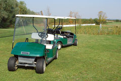 高尔夫球电儿童车 免版税库存图片