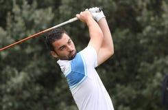高尔夫球的托马斯Linard,掌握13日2013年 免版税图库摄影