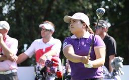 高尔夫球的Evian Inbee公园掌握2012年 库存图片