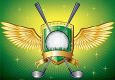 高尔夫球盾 免版税库存图片