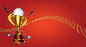 高尔夫球盾 免版税库存照片