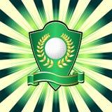 高尔夫球盾 库存照片