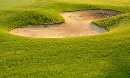 高尔夫球砂槽 免版税库存照片