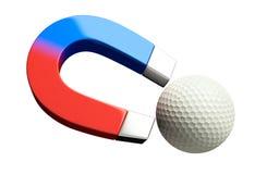 高尔夫球磁铁 免版税库存图片