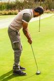 高尔夫球精确度 免版税库存照片