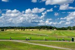 高尔夫球练习用靶场 库存照片