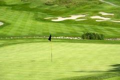 高尔夫球绿色 库存照片