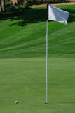 高尔夫球绿色 免版税图库摄影