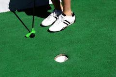 高尔夫球缩样 免版税库存图片
