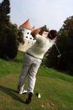 高尔夫球罢工 图库摄影