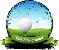 高尔夫球背景 库存图片