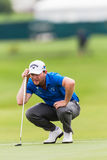高尔夫球能手Branden雍容绿色 库存照片