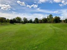 高尔夫球航路在捷克 免版税库存图片