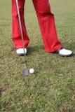 高尔夫球行程 免版税库存图片