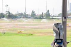 高尔夫球袋 免版税图库摄影