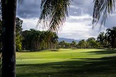 高尔夫球视图 免版税库存图片