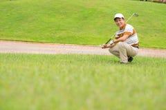 高尔夫球训练 免版税库存图片