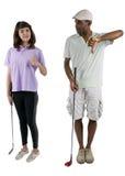 高尔夫球讲解 免版税库存照片