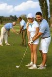 高尔夫球课 库存照片