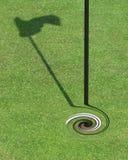 高尔夫球转动 库存照片