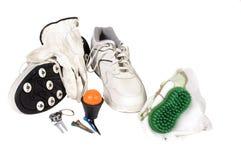 高尔夫球辅助部件 库存图片
