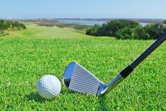 高尔夫球辅助部件。 库存图片