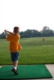 高尔夫球运动员一点 免版税库存图片