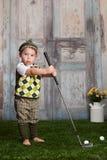 高尔夫球运动员一点 免版税图库摄影