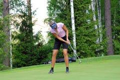 高尔夫球运动员专业shimanskaya维拉 图库摄影