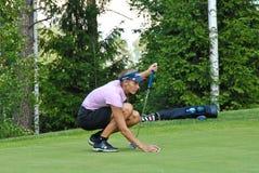 高尔夫球运动员专业shimanskaya维拉 免版税库存照片