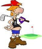 高尔夫球运动员农场工人 库存图片