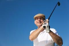 高尔夫球运动员前辈 免版税库存照片