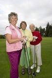 高尔夫球运动员微笑 免版税库存图片