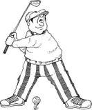 高尔夫球运动员摇摆 库存照片