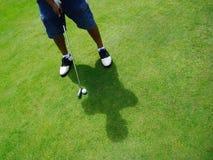 高尔夫球运动员放置 库存图片
