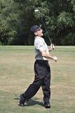 高尔夫球运动员满足 免版税库存照片