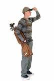 高尔夫球运动员男性年轻人 免版税库存照片