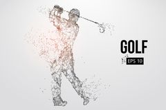 高尔夫球运动员的剪影 也corel凹道例证向量 库存图片