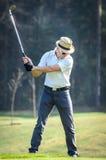 高尔夫球运动员的画象 库存照片
