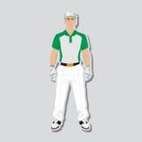 高尔夫球运动员穿戴 向量例证