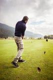 高尔夫球运动员草皮 库存照片