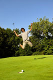 高尔夫球运动员赢利地区 库存图片